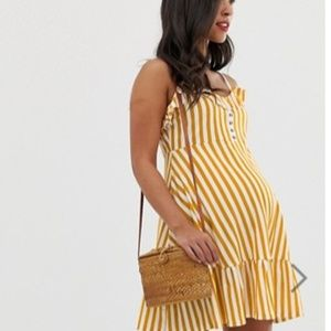 ASOS Maternity mini sundress with button front